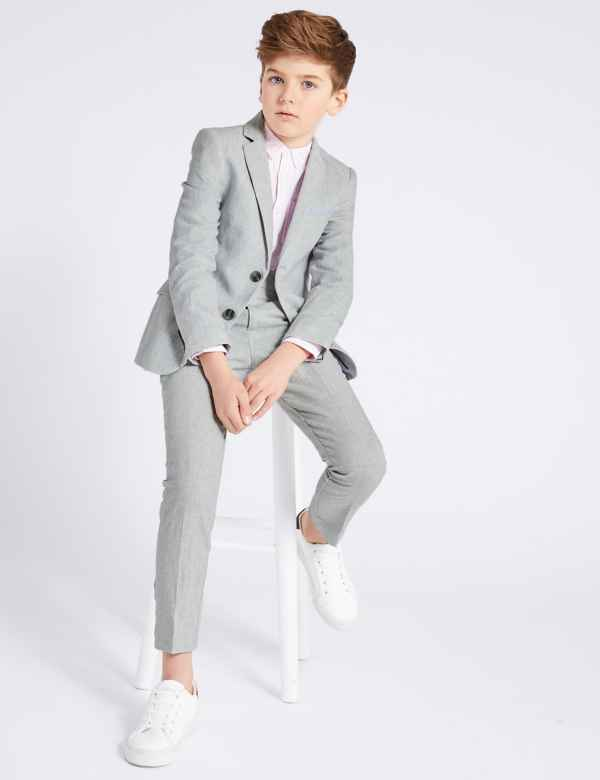 f07c31883a7f Cotton Blend Suit Jacket (3-16 Years)