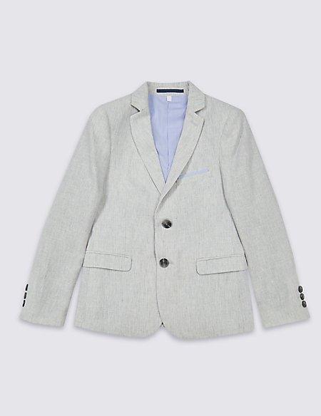 Cotton Blend Suit Jacket (3-16 Years)