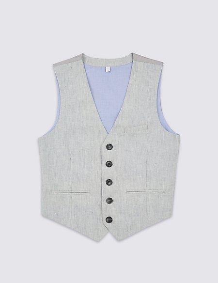 Cotton Blend Waistcoat (3-16 Years)