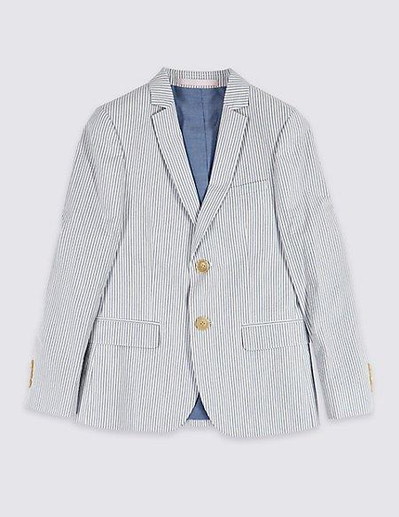 Pure Cotton Seersucker Jacket (3-16 Years)