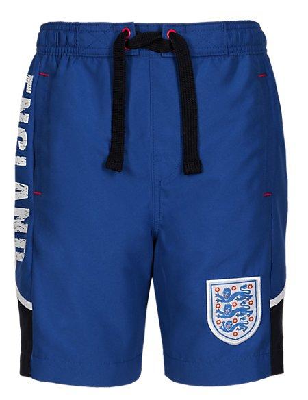 England FA Magic Print Swim Shorts (5-14 Years)