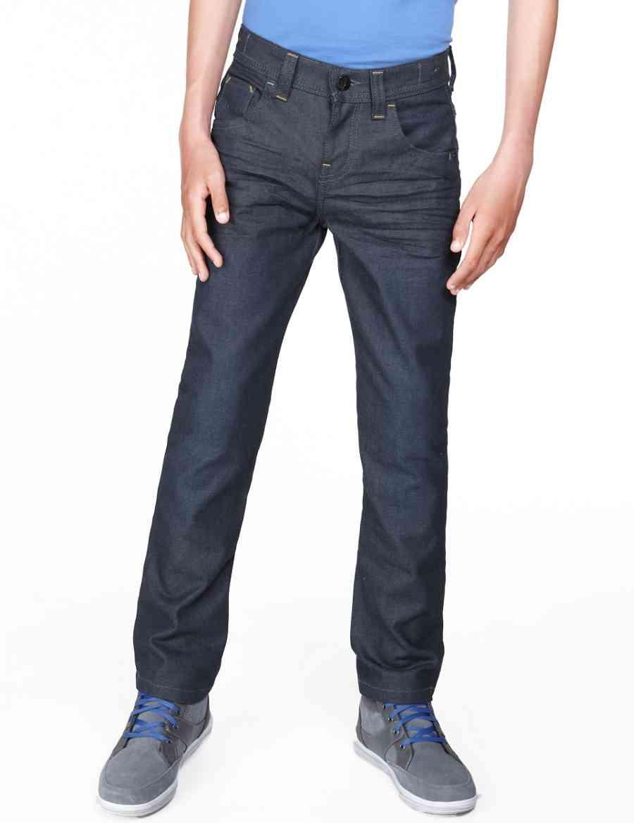 f9649a52f0e2 Pure Cotton Straight Leg Coated Jeans