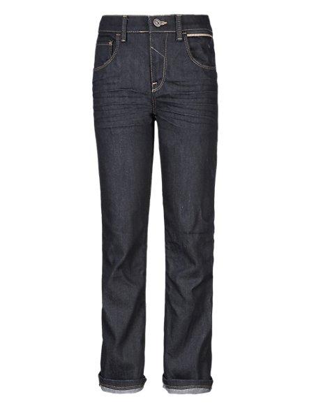 Cotton Rich Adjustable Waist Selvedge Jeans (5-14 Years)