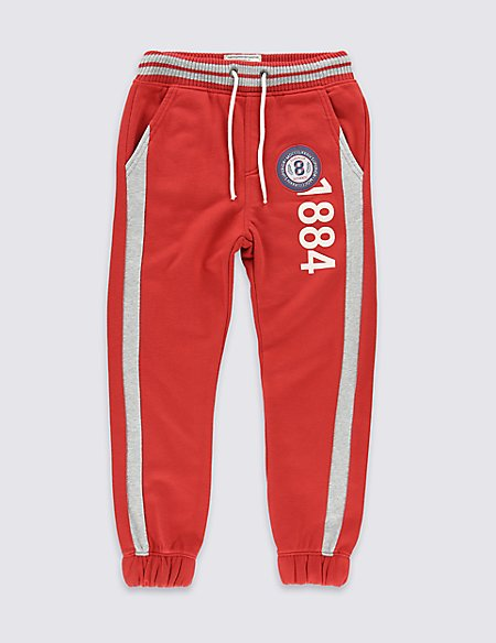 Cotton Rich Badge Joggers (5-14 Years)