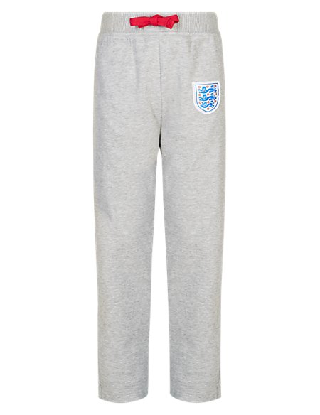England FA Cotton Rich 3 Lions Joggers (5-14 Years)