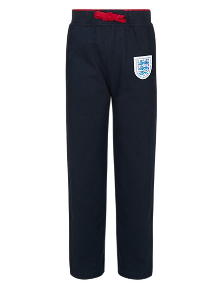 England FA Pure Cotton 3 Lions Joggers (5-14 Years)