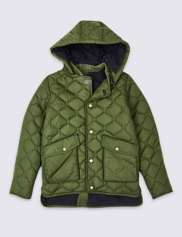 464b374577e Easy Dressing Quilted Coat (3-16 Years)