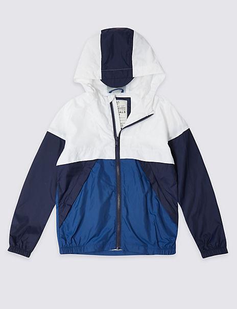 Colour Block Windbreaker Jacket (3-16 Years)