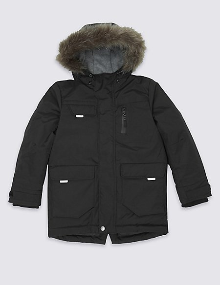Faux Fur Parka Coat with Stormwear™ (3-14 Years)