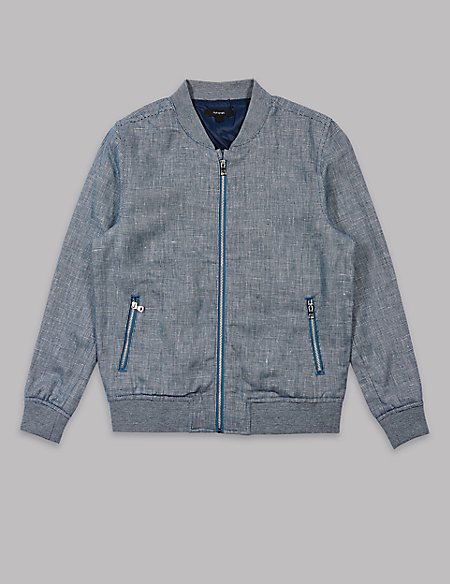 Cotton Blend Bomber Jacket (3-16 Years)
