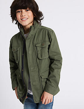 Pure Cotton Jacket (3-16 Years)