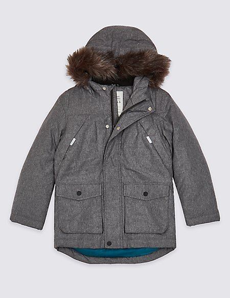 Faux Fur Parka (3-16 Years)