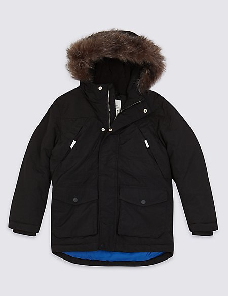 Faux Fur Parka Coat (3-16 Years)