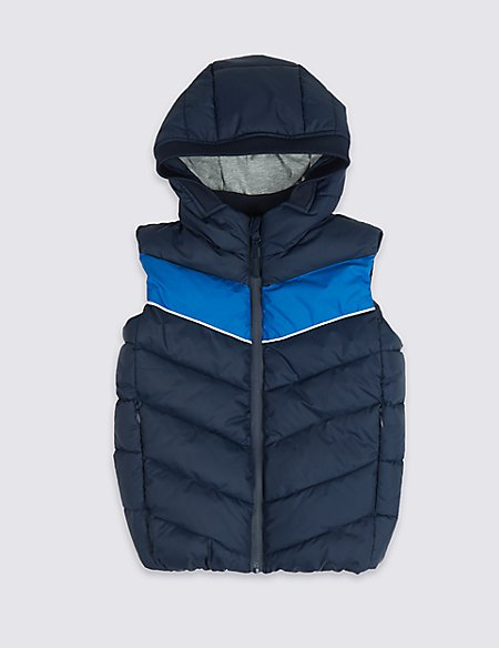 Colour Block Hooded Gilet (3-16 Years)
