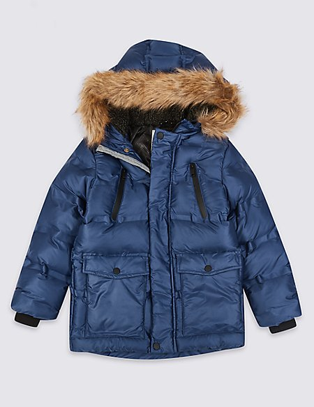 Faux Fur Padded Parka (3-16 Years)