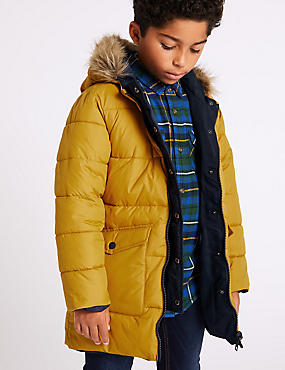 Faux Fur Reversible Parka (3-16 Years)