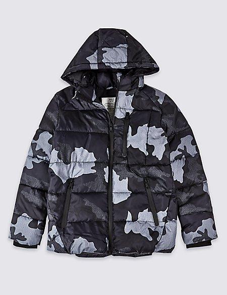 Printed Hooded Coat (3-16 Years)