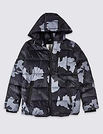 Printed Hooded Coat (3-16 Years)