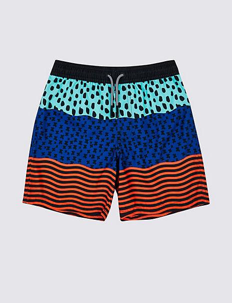 Sustainable Spot Stripe Swim Shorts (3-16 Years)