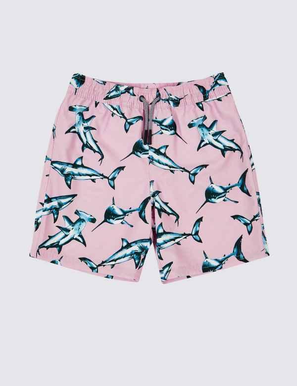 3b2e88601b441 Sustainable Shark Print Swim Shorts (3-16 Years)