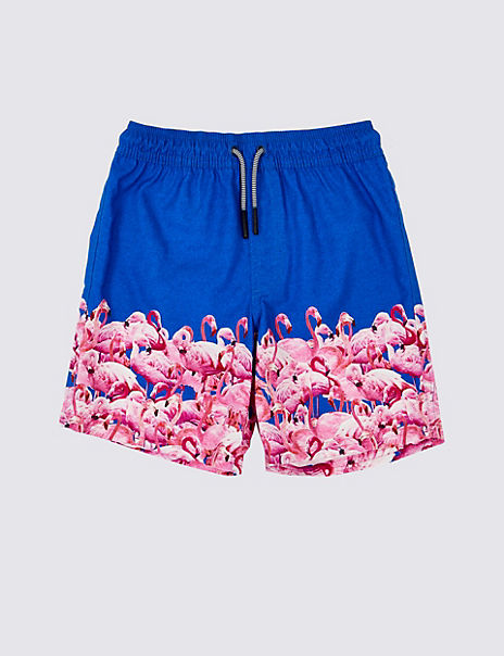 Sustainable Flamingo Print Swim Shorts (3-16 Years)