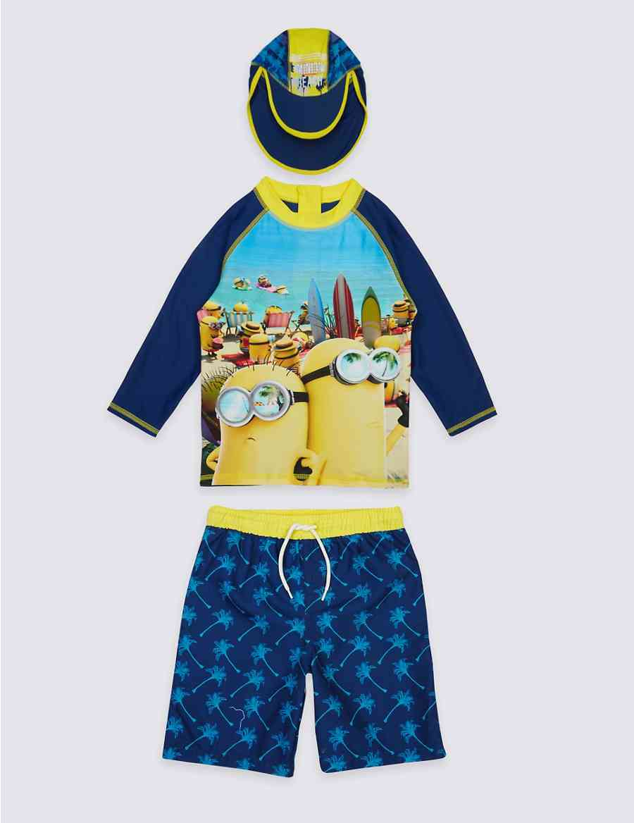 2cc4a53b36 3 Piece Despicable Me™ Minions Swimsuit (3-8 Years)