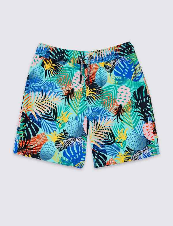 47bdf81095 Sustainable Tropical Leaf Swim Shorts (3-16 Years)