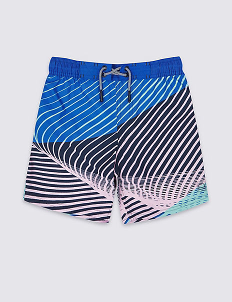 Sustainable Diagonal Stripe Swim Shorts (3-16 Years)