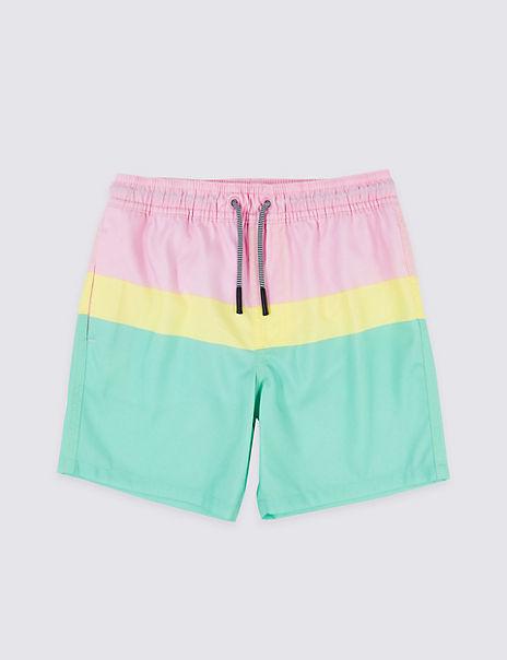 Sustainable Colour Block Swim Shorts (3-16 Years)