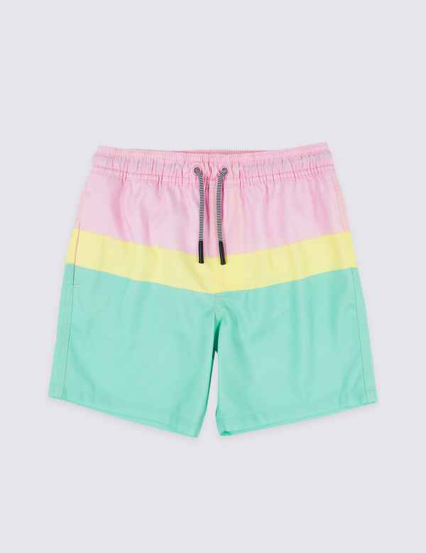 0f4858be17bc6 Sustainable Colour Block Swim Shorts (3-16 Years)