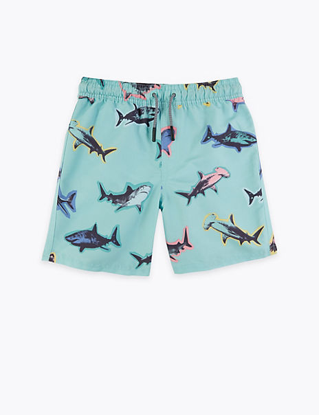 Shark Print Swim Shorts (6-16 Years)
