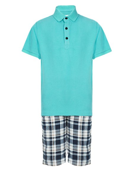 Pure Cotton Polo Shirt & Shorts Outfit