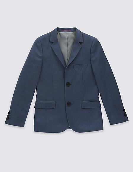 2 Button Spot Jacket (3-14 Years)