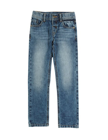 Pure Cotton Adjustable Waist Jeans (1-7 Years)