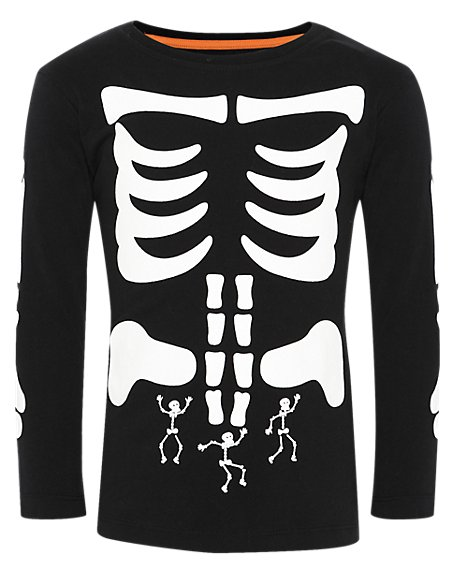 Pure Cotton Skeleton T-Shirt