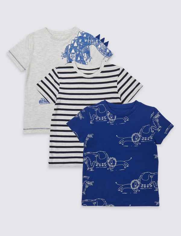 3 Pack Graphic T-Shirts (3 Months - 7 Years)