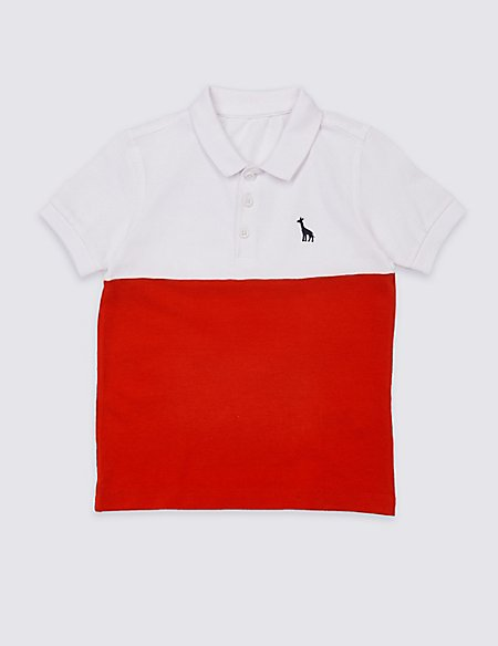 Colour Block Polo Shirt (3 Months - 7 Years)