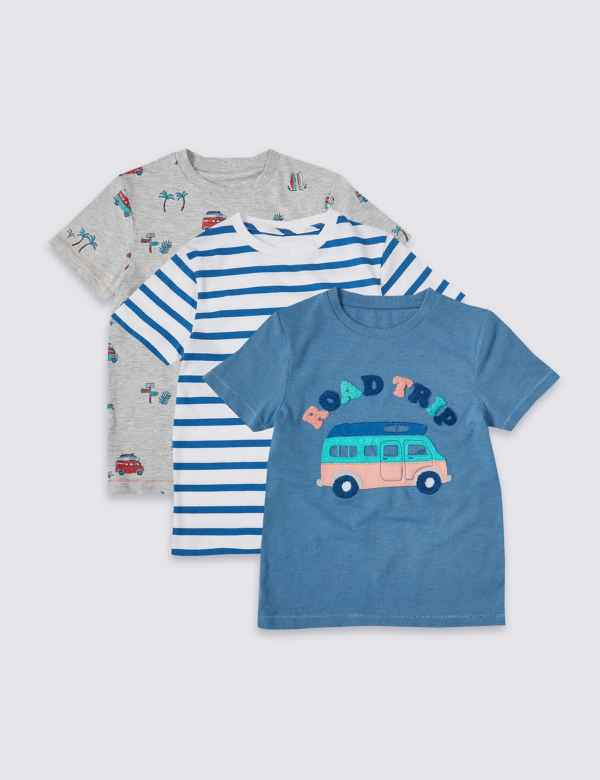 6ee0d51a 3 Pack T-Shirts (3 Months - 7 Years)