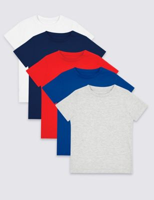 5a98edcc 5 Pack T-Shirts (3 Months - 7 Years) £14.00 - £18.00