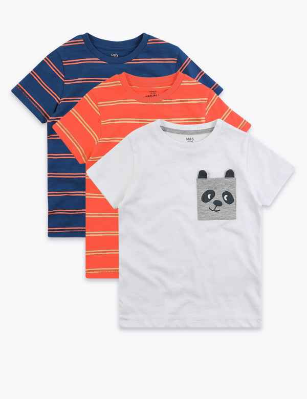 3 PACK BOYS T//SHIRT VESTS WHITE AGES 3//4-13//14 YEARS