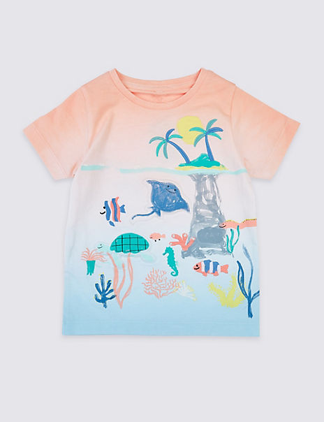 Pure Cotton Sting Ray T-Shirt (3 Months - 7 Years)