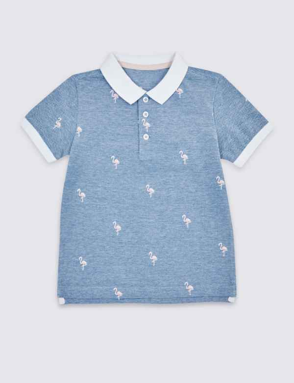 c52fafb9 Pure Cotton Embroidered Polo Shirt (3 Months - 7 Years)