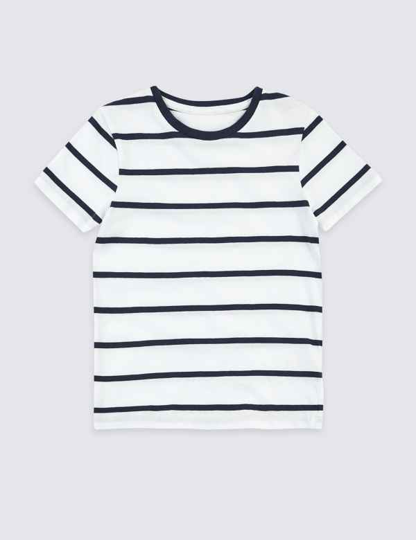 c172a037023d7c Pure Cotton Striped T-Shirt (3 Months - 7 Years)