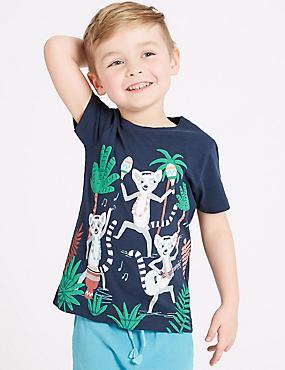 Pure Cotton Lemur T-Shirt (3 Months - 7 Years)
