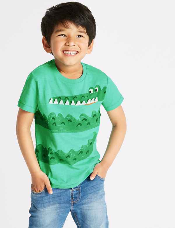 d646599e2a3 Pure Cotton Crocodile T-Shirt (3 Months - 7 Years)