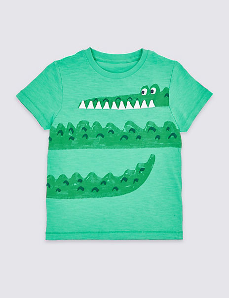 Pure Cotton Crocodile T-Shirt (3 Months - 7 Years)