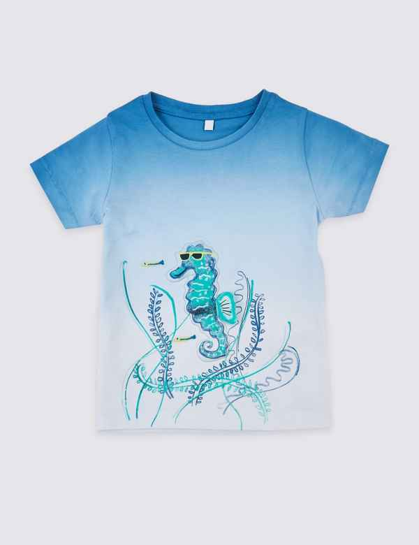889aab98 Pure Cotton Seahorse T-Shirt (3 Months - 7 Years)