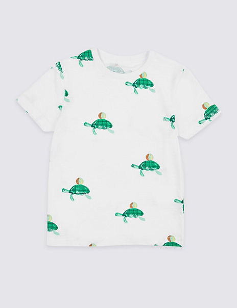 Pure Cotton Turtle T-Shirt (3 Months - 7 Years)