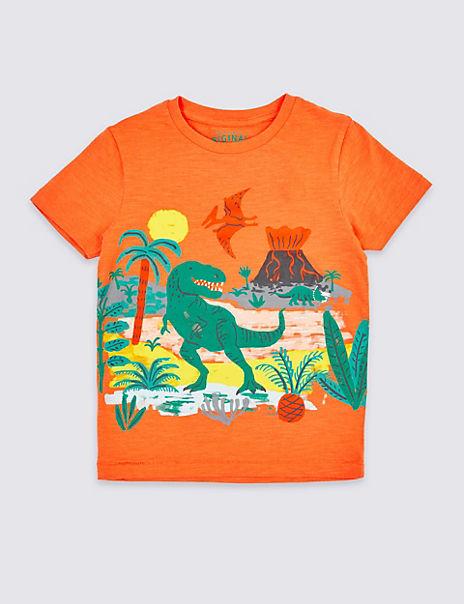 Pure Cotton Dinosaur T-Shirt (3 Months - 7 Years)