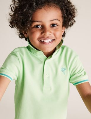 Polo 100 % coton à motif dinosaure (du 2 au 7 ans) - Lime Green